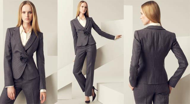 Власне ділові костюми для жінок з явилися завдяки відомим модельєрам — Коко  Шанель і Ів Сен-Лорану. Вони зробили їх елегантними d9b82d1d604a5