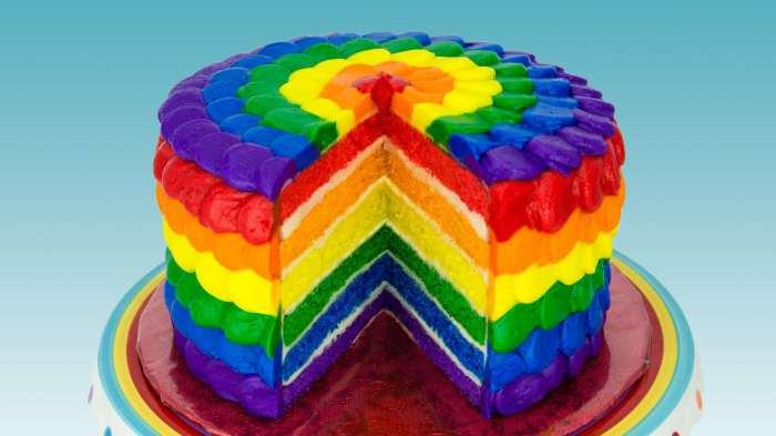 Цветной крем для торта с помощью жирорастворимых красителей