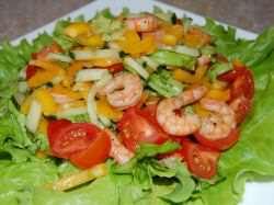 Самый вкусный салат с креветками