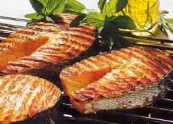 Шашлык из семги на мангале – рецепт