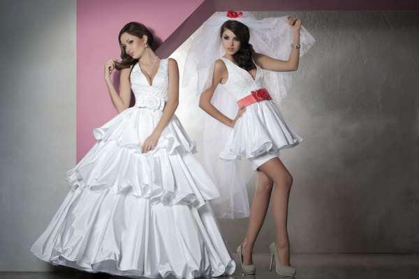 cdfd69d53e86f5 Свадебное платье-трансформер с отстегивающейся юбкой