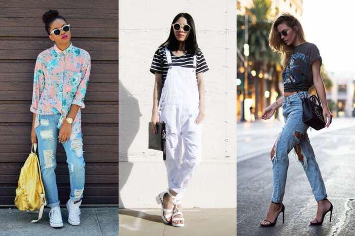 Рвані джинси відмінно поєднуватимуться з чобітьми. Проте краще не віддавати  перевагу моделям з загостреними носами. Просторі чоботи на низькому каблуці  або ... 664d1049e15e7