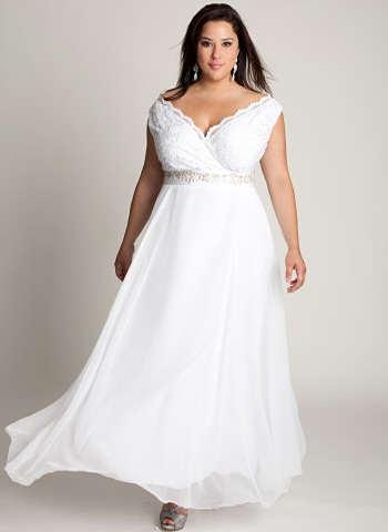 17245a2423a148 Особливе це стосується повних дівчат, адже білий колір сам по собі повнить.  Як же вибрати відповідний наряд? Яке весільне плаття для повних дівчат буде  у ...
