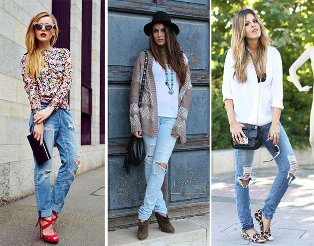 Самим актуальним поєднанням є гарний топ і рвані джинси. Зручні штани  відмінно гармоніювати з акуратним верхи. Доповнять недбалий образ витончені  босоніжки. 18caf769ae17c