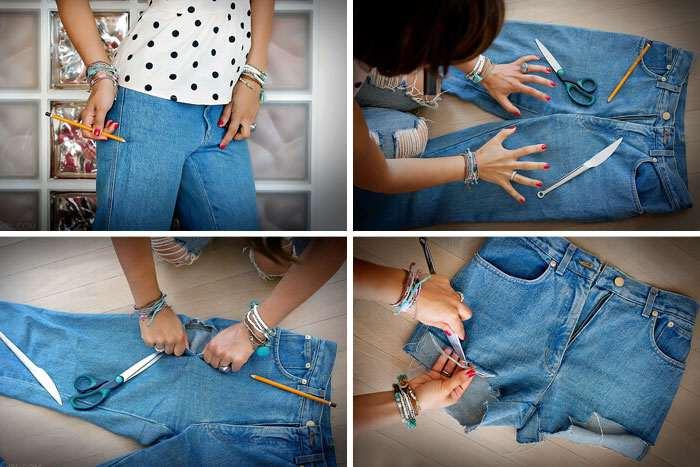 Як зробити рвані джинси своїми руками в домашніх умовах  покрокова ... 01a32c49f5e29