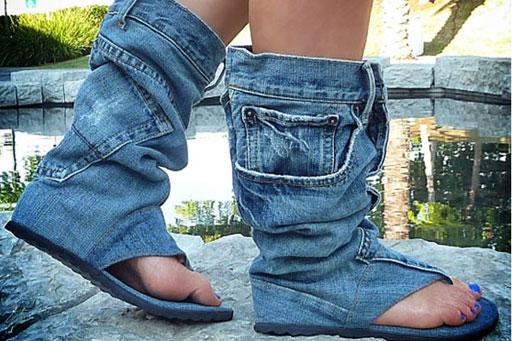 Літні чоботи на фото і в реальності  як перенести зимову взуття в ... cba9f1984a64f