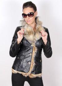 Кожаные зимние куртки для женщин 9510784a7b6ec