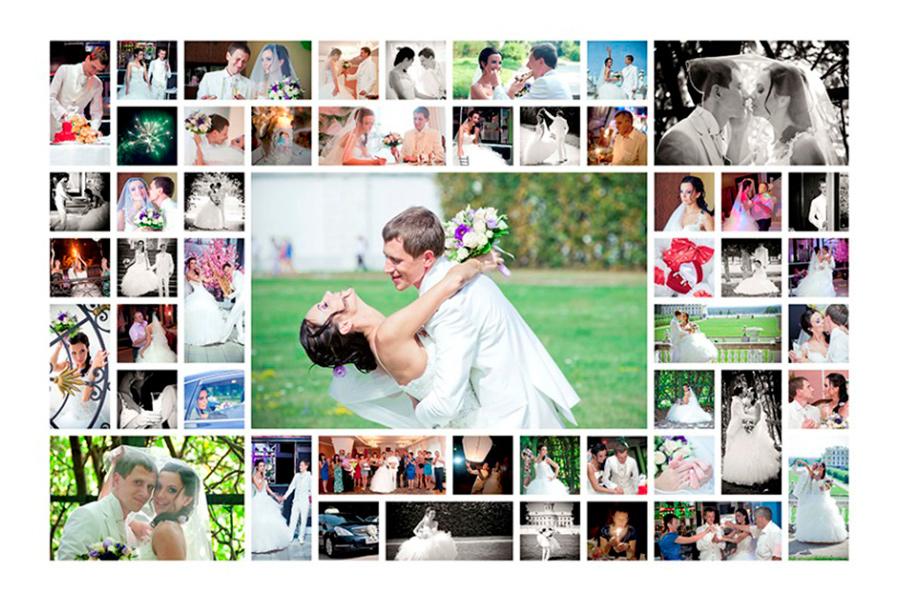 сделать коллаж из множества фотографий онлайн