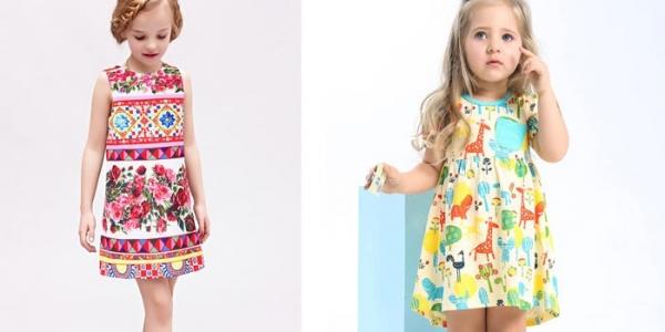 Летние платья для девочек 2017 - новинки детской одежды bccd8deecc523