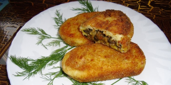 Зразы с грибами - как готовить с картофелем, мясным фаршем или сыром по рецептам с видео