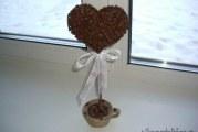 Кавове серце в чашці