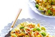 Рецепт азіатського овочевого салату з швидкою вермішеллю