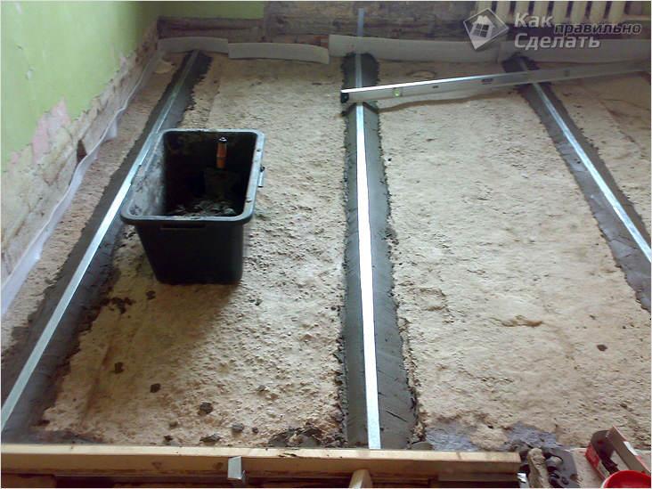 Залить цементом пол в гараже