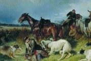 Царське полювання з борзими на вовка