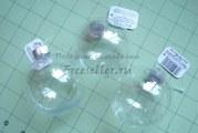 Ідеї виробів на Різдво з пластикових куль