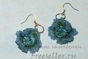 Сережки з бісеру «Сяючі квіти»
