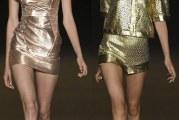 Золоті сукні та штани і куртки весна-літо 2015
