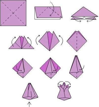 Оригами из бумаги схемы очень красивый