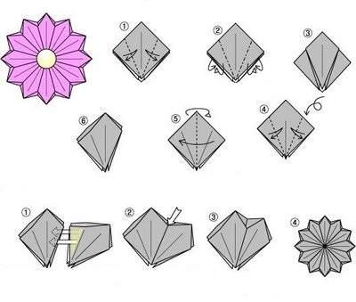 Схемы модульного оригами для начинающих цветы 6