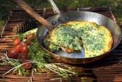 2 італійських сніданку: пиріг зі шпинатом і фріттата з зеленню. Страви з овочів