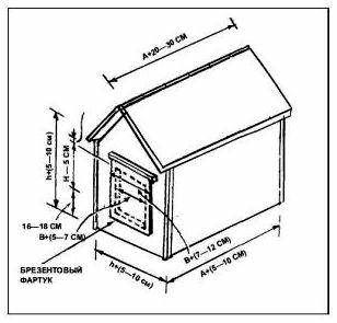 Будка для хаски своими руками чертежи и размеры 11