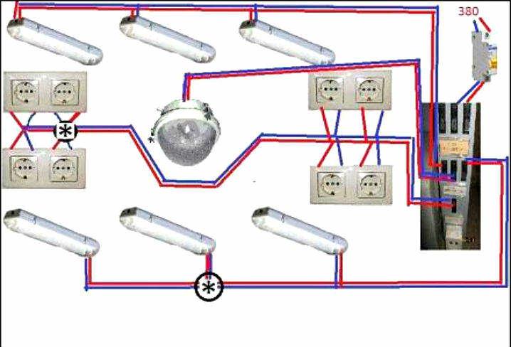 Схема подключения электрики в гараже