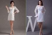 Короткі весільні сукні модні моделі 2015 року, особливості вибору, фото