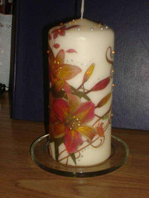 Свечи с декупажем своими руками 93
