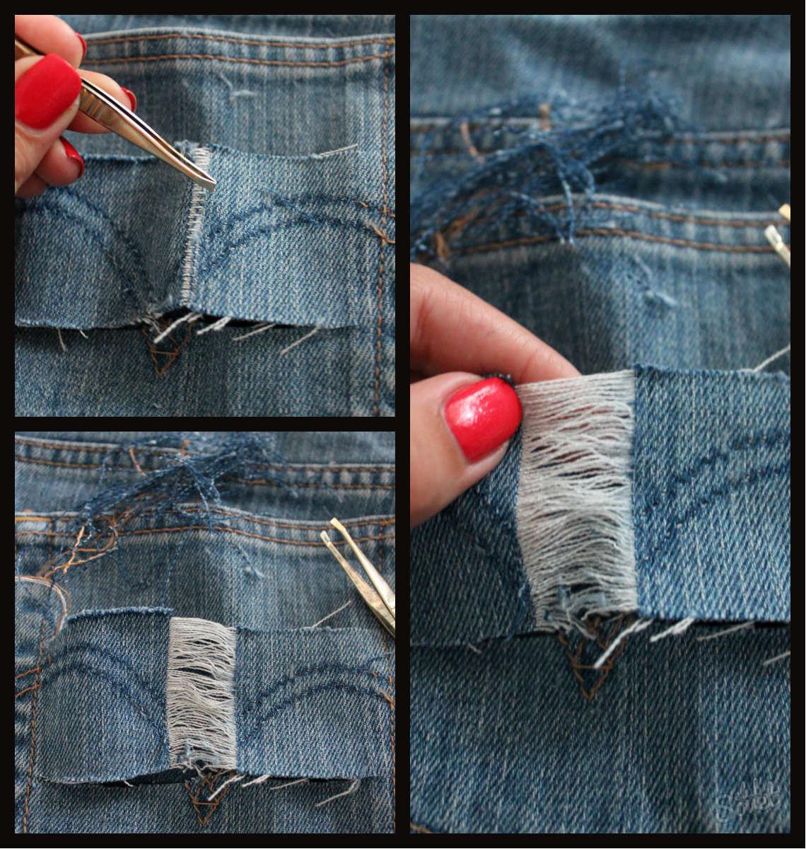 Как в домашних условиях рваные джинсы