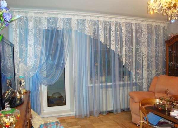 шторы в зал легкие фото
