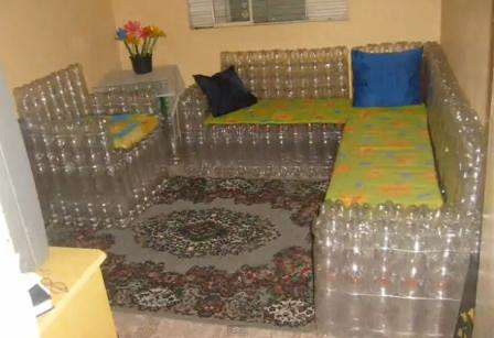 Мебель из пластиковых бутылок своими руками пошагово 99