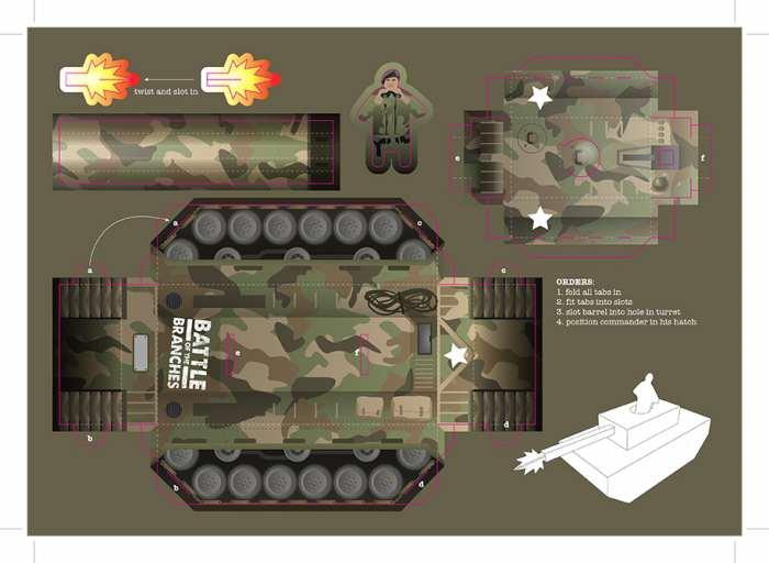 Как сделать тигр танк из бумаги