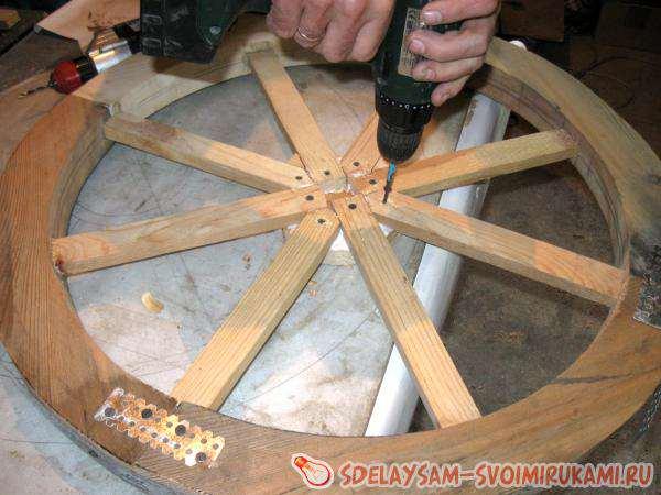 Виготовлення дерев'яного колеса від воза