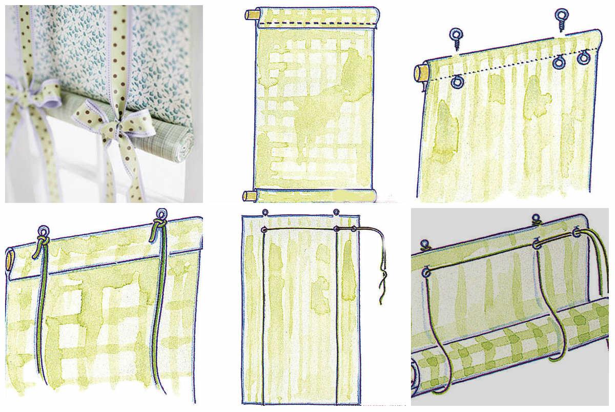 Как сделать рулонную штор