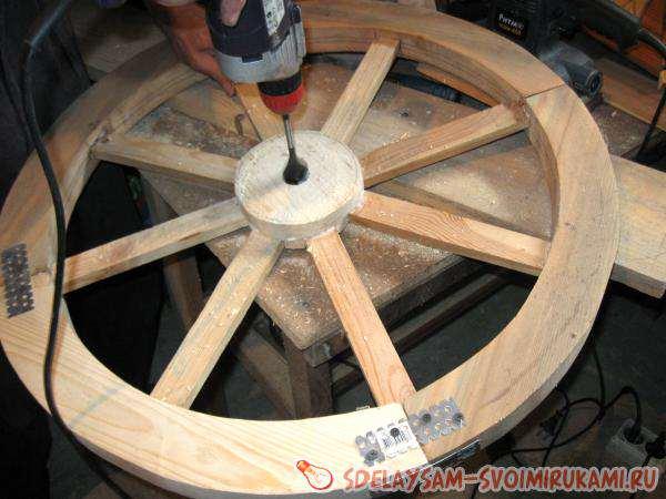Как сделать деревянное колесо своими руками фото