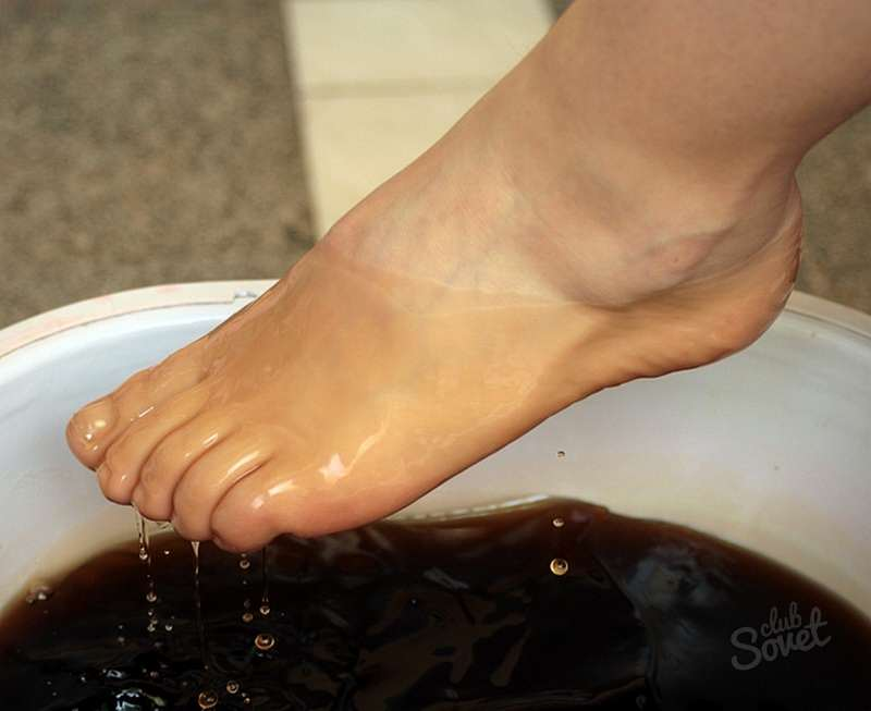 Ванночки от грибка между пальцами ног