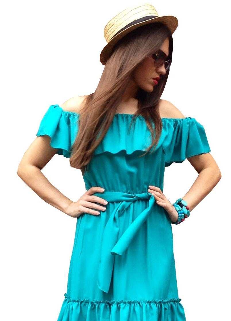 Летнее платье с воланами сшить