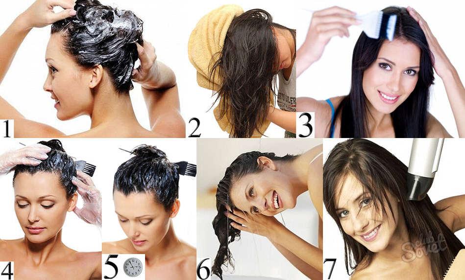 Как красить длинные волосы в домашних условиях 453