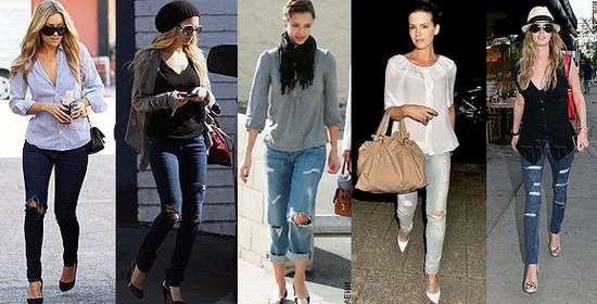 Рвані джинси  з чим носити. Ідеї та образів фото 26ef88482fecb