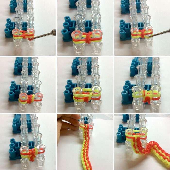 браслет фото схемы резинок плетение из