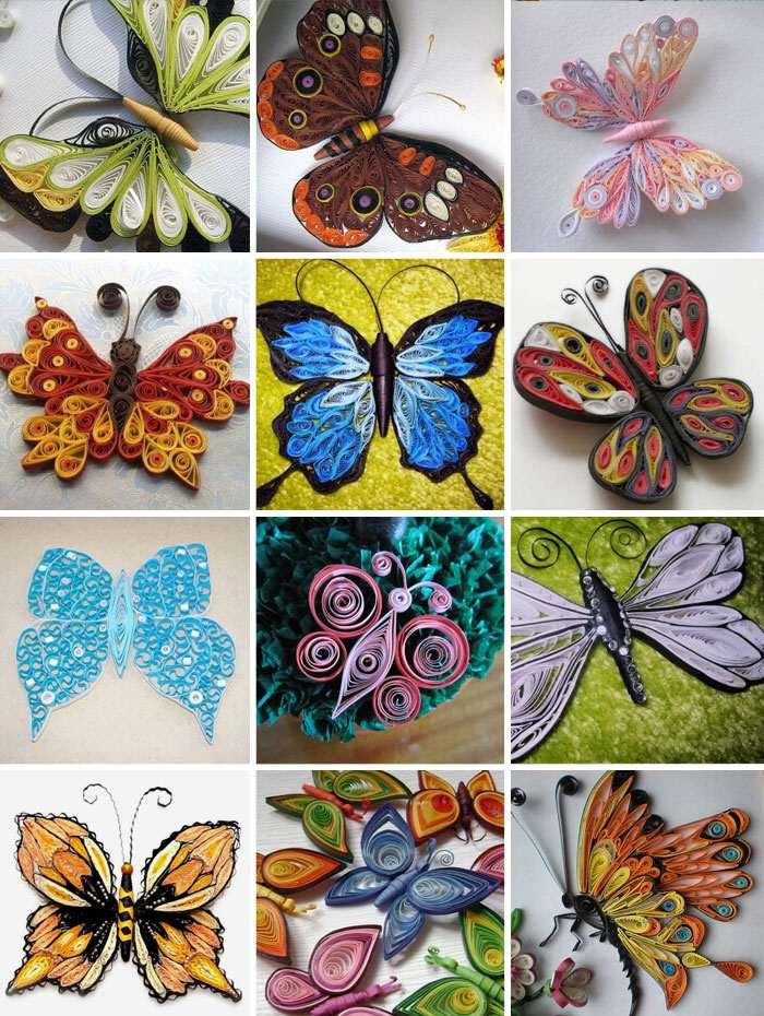 Как сделать бабочку из стиля квиллинг