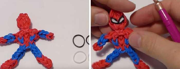 Как из резиночек сделать человека паука