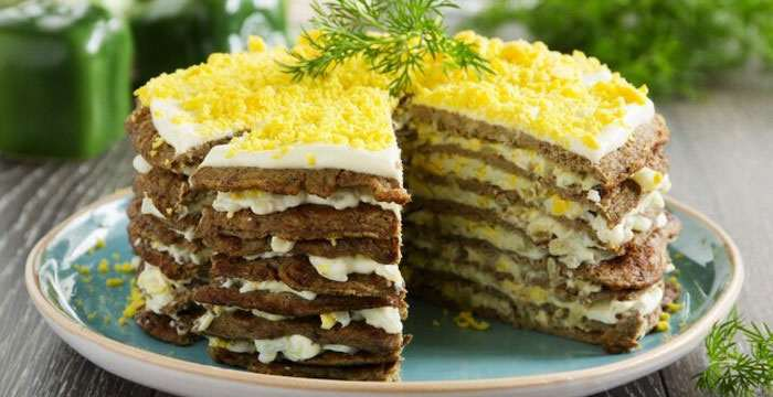 Тортик из печени с фото