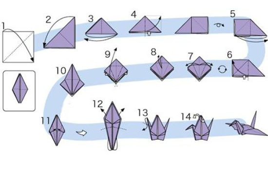 Как сделать журавля из бумаги своими руками поэтапно