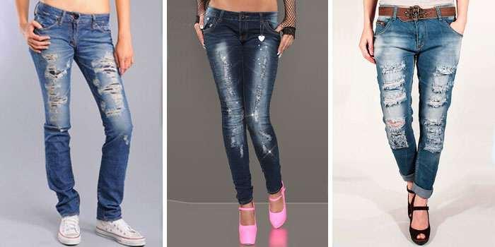Как сделать джинсы рванки своими руками 76