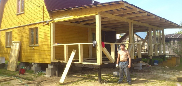 Строим пристрой к дому своими руками