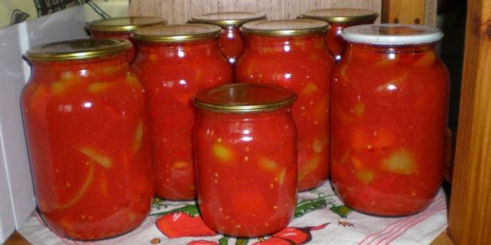 Салаты на зиму с помидорами и болгарским перцем