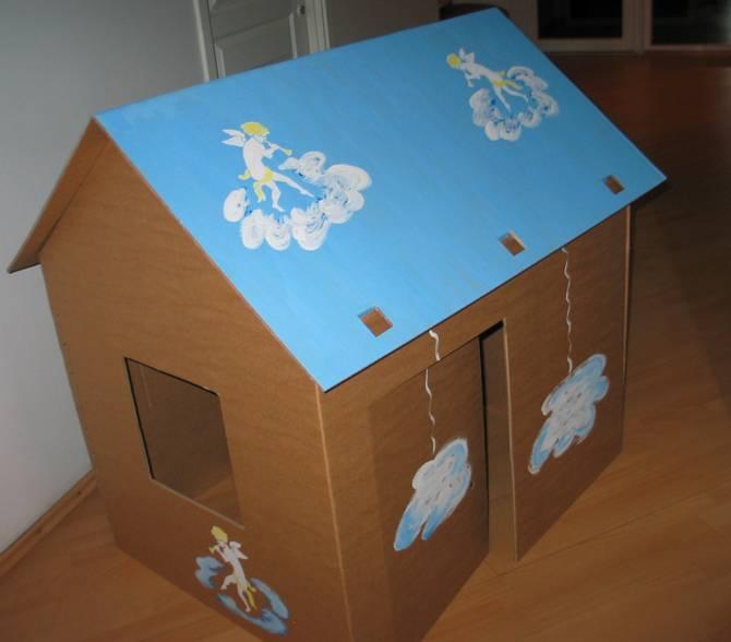 Поделка домик из картона для детей своими руками