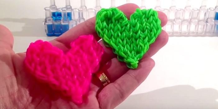 Как плети из резинок сердечко
