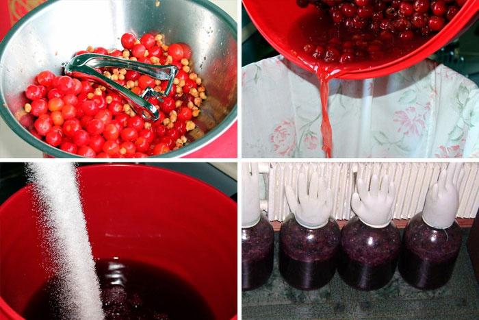 вино из вишни в домашних условиях рецепт без дрожжей